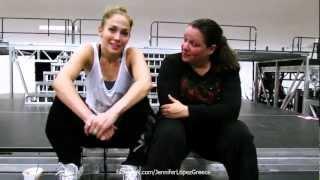 Jennifer Lopez Rehearsals for Dance Again Tour