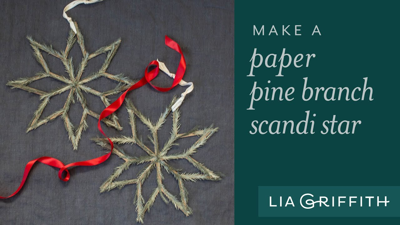Video: Paper Pine Needle Scandi Stars
