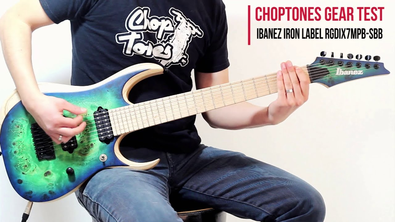 ibanez rgdix7mpb sbb iron label 2016 demo playthrough youtube