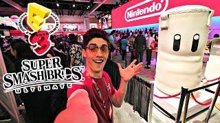 FULL NINTENDO E3 BOOTH TOUR 2018!! *Smash Ultimate, Let's Go Pikachu*