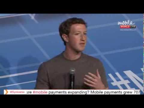 MWC2014 Barcelona Mark Zuckerberg