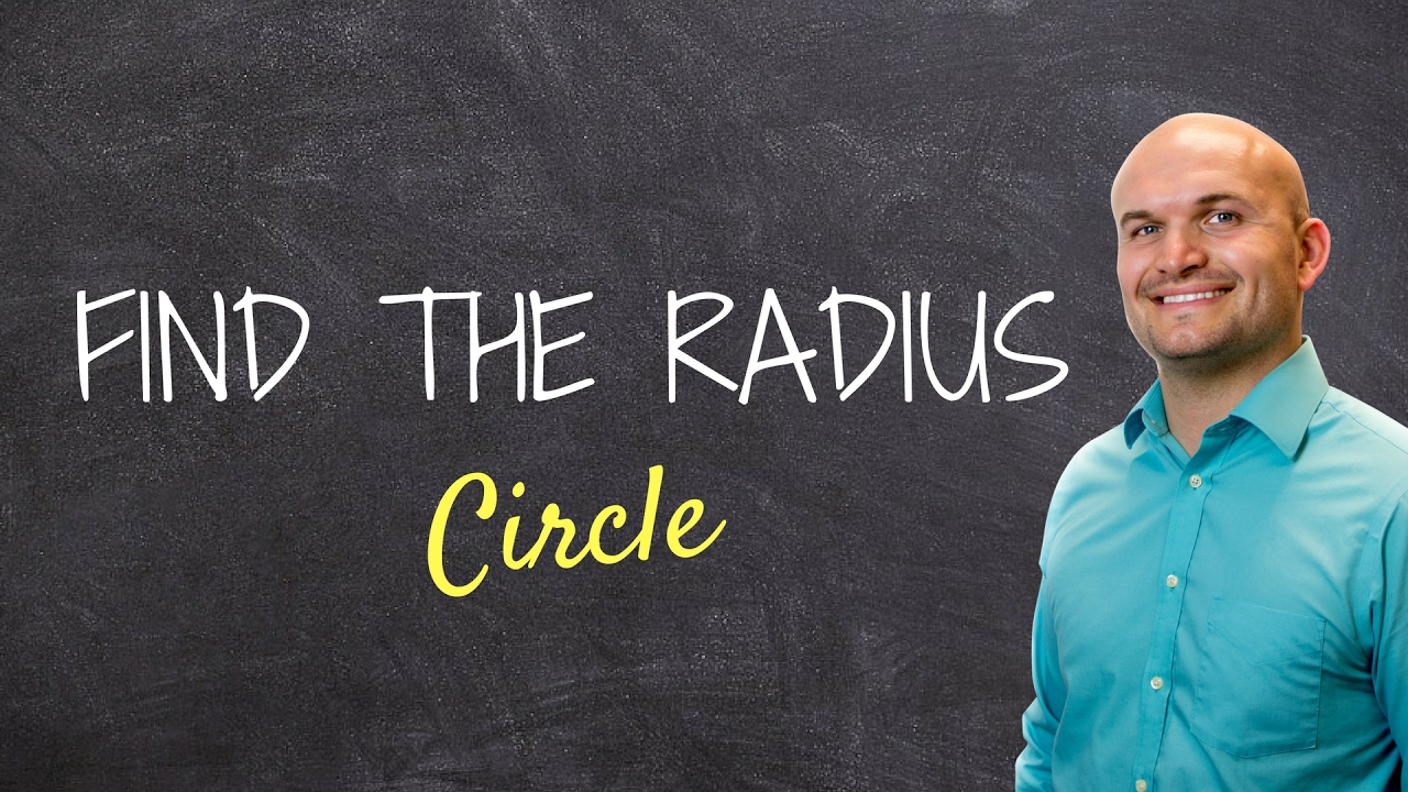 Given The Area Of A Circle Find The Radius