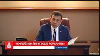 Ekrem İmamoğlu İBB Meclis Yayını 25.04.2019 - 3.Oturum