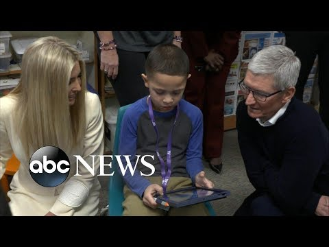 Ivanka Trump: Access to technology 'opens up a universe' to students