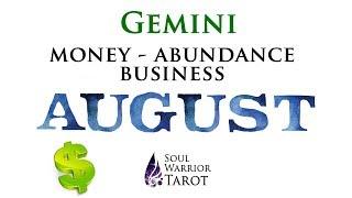 💸GEMINI August Money Business Abundance Tarot Forecast   Soul Warrior Tarot