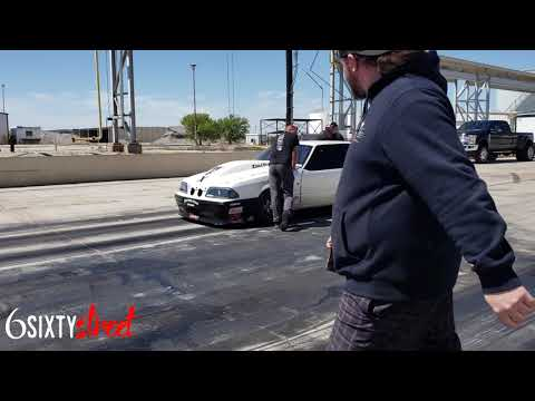 Street outlaws Chuck making a quick Test hit in the Death Trap at Warehouse
