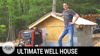 Off Grid Home Build (#11): Finishing the Ultimate Block Well House (Part 3 of 3)
