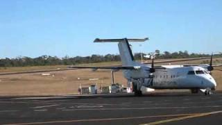 Skytrans Airlines Dash-8-100 VH-QQE Take Off Clermont Aerodrome