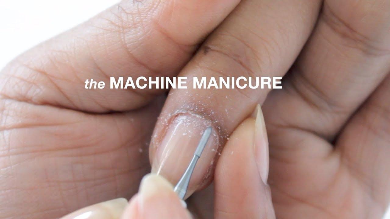 HOW TO MACHINE RUSSIAN MANICURE | abetweene - YouTube
