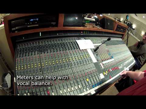 How to Mix Audio in a Worship Service - Tutorial Video