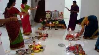 "Sri Maha Lakshmi Deepa Puja at Chennai by Sri ""Meenakshi Kataksha"" Lakshmiji"