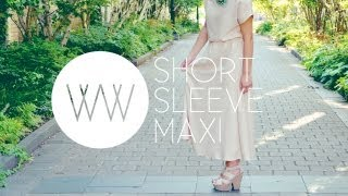 How to Make a Short Sleeve Maxi Dress | WITHWENDY