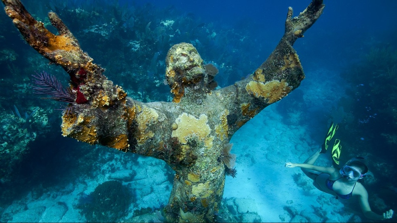 Mysterious Statue You Can Only See Underwater Youtube