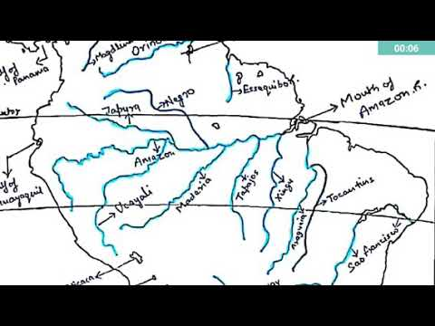 South America Map With Rivers.South America Physical Map Rivers Lakes Youtube