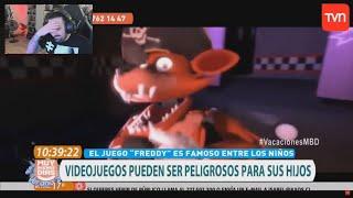 REACCIONANDO AL REPORTAJE DE TVN DE FNAF De Chile * ME MUERO DE RISA * APAREZCO EN EL  | BersGamer