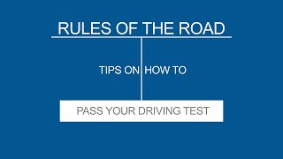 1 INTRODUCTION -- Rules of the Road - (Useful Tips)