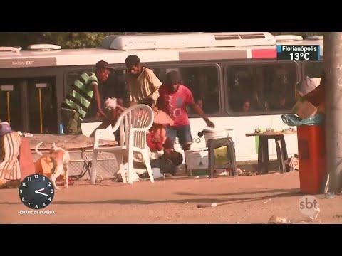 Cracolândia começa a se formar próximo ao Maracanã, no Rio de Janeiro | SBT Notícias (24/05/18)