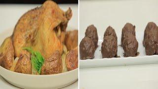 دجاج مشوي في الفرن - كويرات الشوكولاتة بالسوداني - سلطة جزر بالبرتقال | مغربيات حلقة كاملة