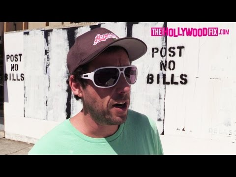 Adam Sandler Goes Shopping For Home Decorations On Melrose Avenue 9.16.16