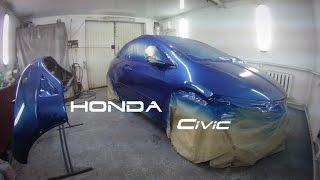 Honda.Кузовной ремонт.Покраска.(Процесс мелкого кузовного ремонта и покраски., 2016-12-10T19:32:03.000Z)