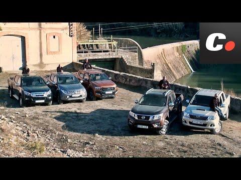 Nissan Navara NP300, Ford Ranger, Toyota Hilux, Mitsubishi L200, Isuzu D-Max   Prueba Pickup