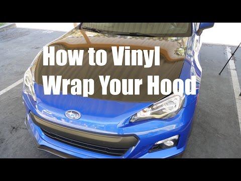 How to Vinyl Wrap Your Car Hood.  Subaru BRZ