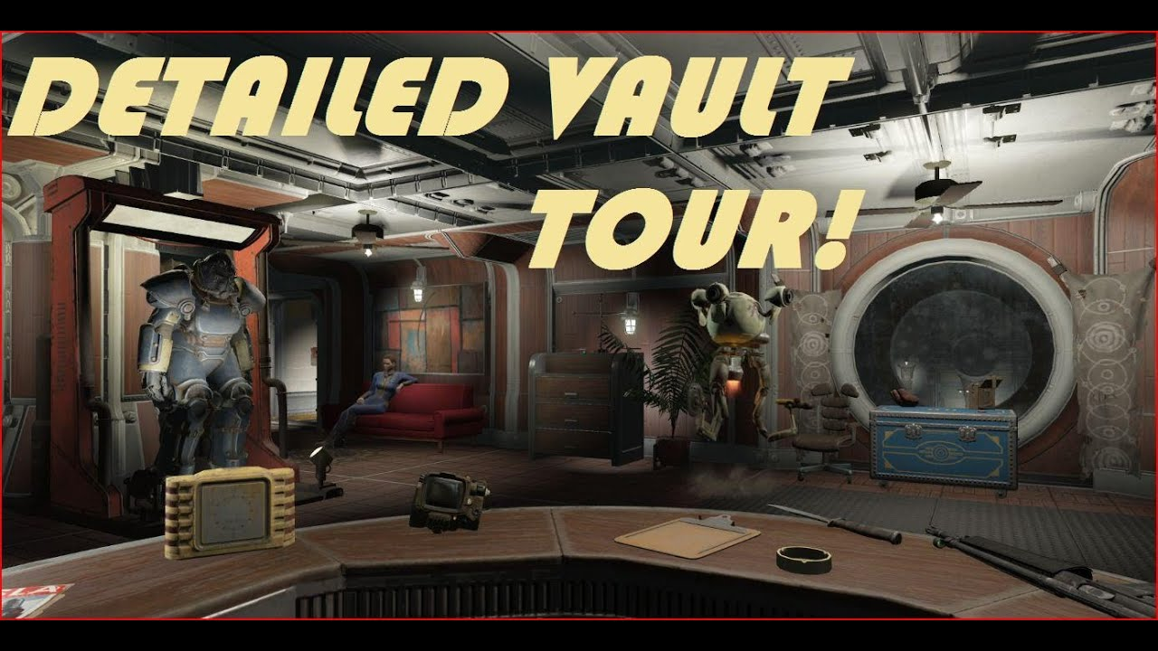 Fallout 4 Vault Tec Workshop Epic Vault Tour Full