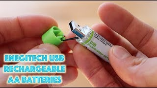Enegitech USB Rechargeable AA Batteries: An Honest Review (2018)
