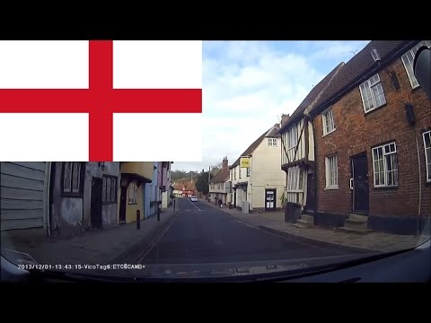Driving in England -- Cambridge city and Country roads 2 hours