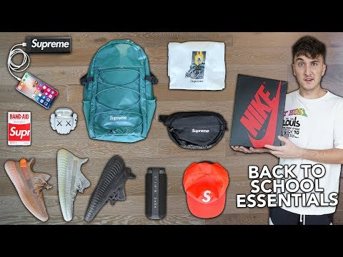 10 Back To School Hypebeast/Sneaker Essentials