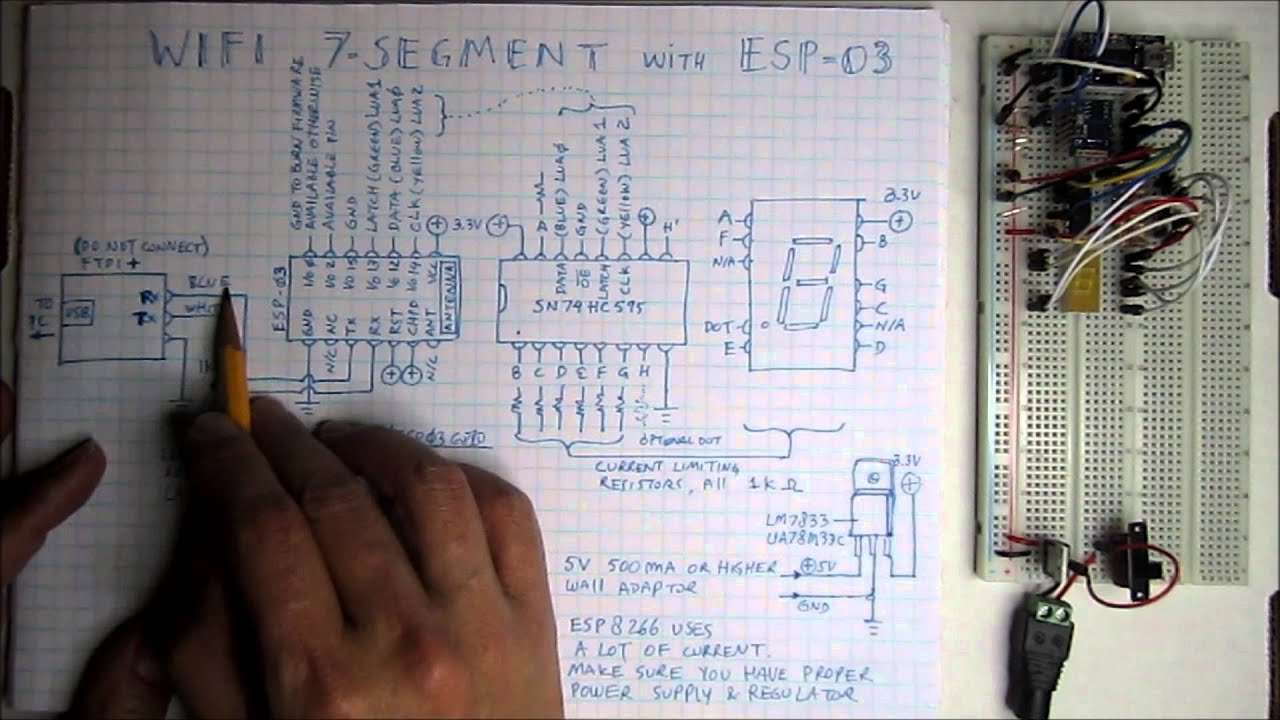 3 Wifi Module Part 8a I O Schematic Diagram Youtube Cat 12d Wiring