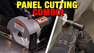 The BEST COMBO for Cutting Sheet Metal & Deburring Edges! Elite Panel Cutting & Deburring System