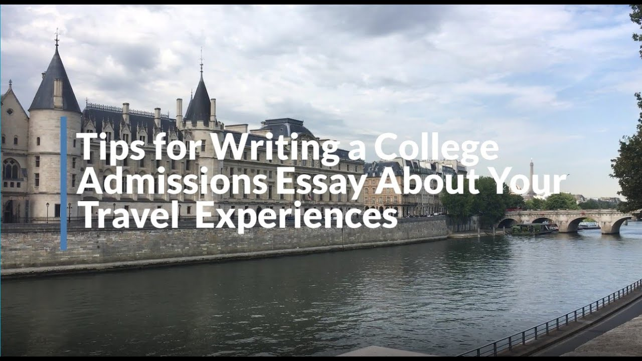 Writing an admission essay youtube