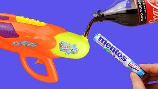 8 SMART IDEAS/MENTOS VS COCA COLA WATER GUN