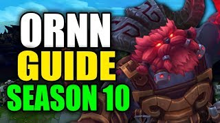 Gambar cover SEASON 10 ORNN GAMEPLAY GUIDE - (Best Ornn Build, Runes, Playstyle) - League of Legends