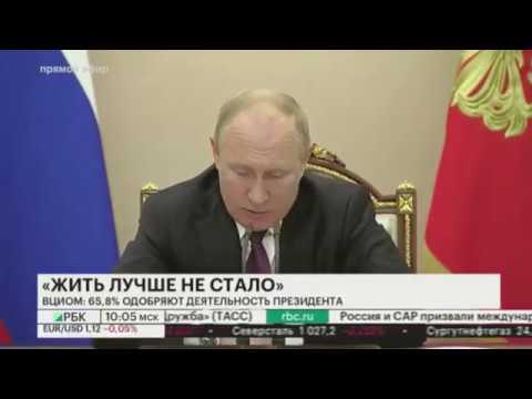 """Снижение рейтинга Путина: Глава ВЦИОМ объяснил снижение рейтинга Путина эффектом """"чёрных очков""""."""