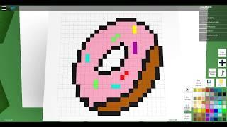 Roblox Pixel art [] Yum it is a donut