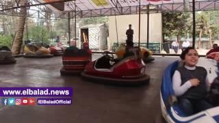 إقبال المواطنين على حديقة الحيوان في ذكرى ثورة يناير .. فيديو وصور