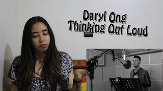 thinking out loud ed sheeran cover by daryl ong reaction