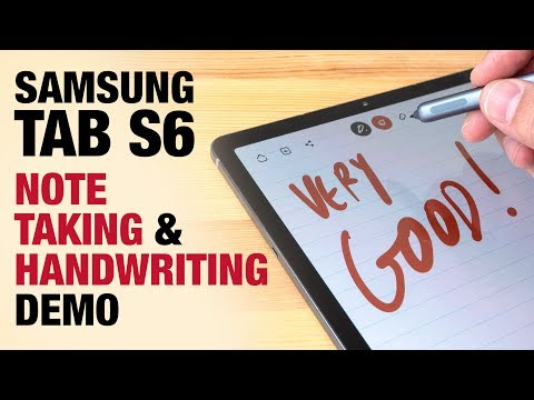 Samsung Tab S6 Note Taking And Handwriting Demo