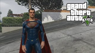 GTA 5 - BEST SUPERMAN - MAN OF STEEL MOD! (PC Mod Gameplay)