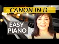 Download Canon in D  Easy Piano Tutorial/Sheet Music MP3 song and Music Video