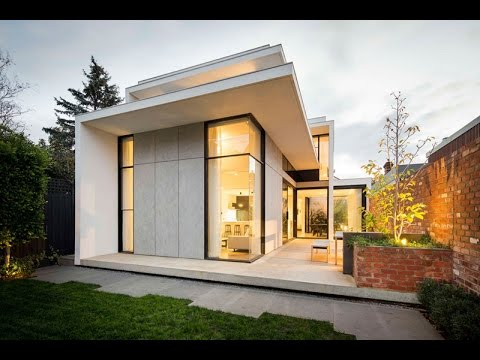 Modern house design with victorian style facade built in for Modern house history