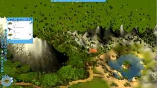 creating a rct 3 park pt 1 terrain modeling time lapse 1080p
