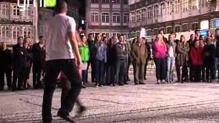 Guimarães recebeu aula aberta de dança no Toural