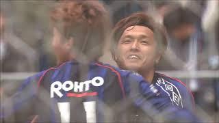 マイナスの折り返しに反応した遠藤 保仁(G大阪)がダイレクトで狙いす...