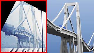Morandi Bridge Collapse Genoa Video Comparison to Simulation | BCB