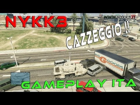 GTA 5 - Gameplay ITA HD - Cazzeggio Con Cargobob Carro Armat