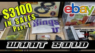 I Hope The Ebay Sales Continue To Be Strong - $3100 in Ebay Sales - Weekly What Sold Part 1