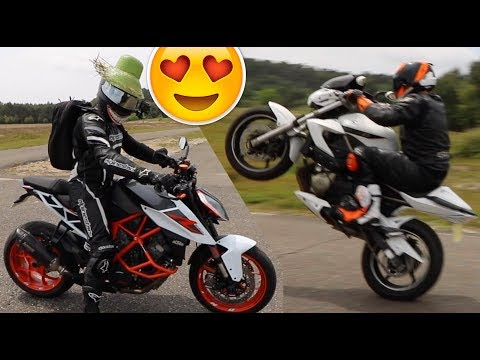 J'APPRENDS LE WHEELING EN KTM 1290 SUPER DUKE ET YAMAHA XJ6 ! 🔥😍☆  Episode 2